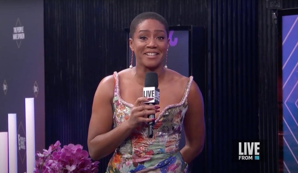 Tiffany Haddish Discusses Buzz Cut at People's Choice Awards