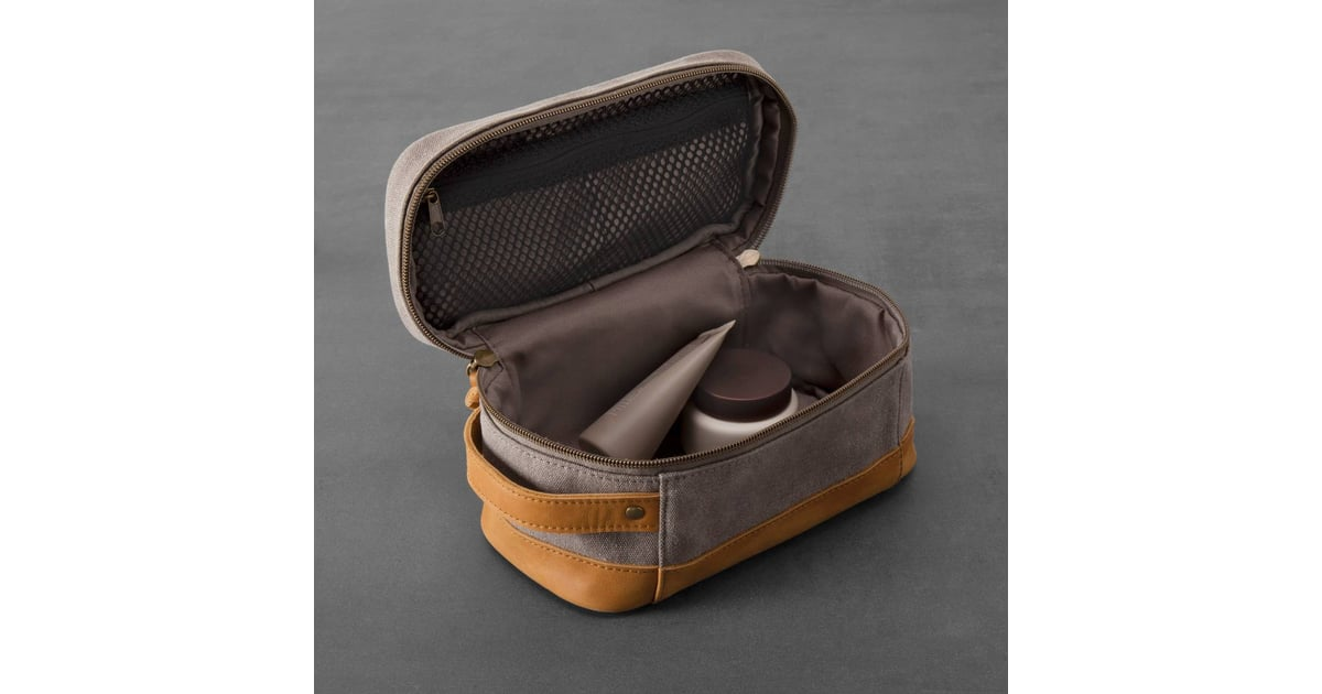 ebb0bdea87 Hearth   Hand With Magnolia Canvas   Leather Toiletry Bag