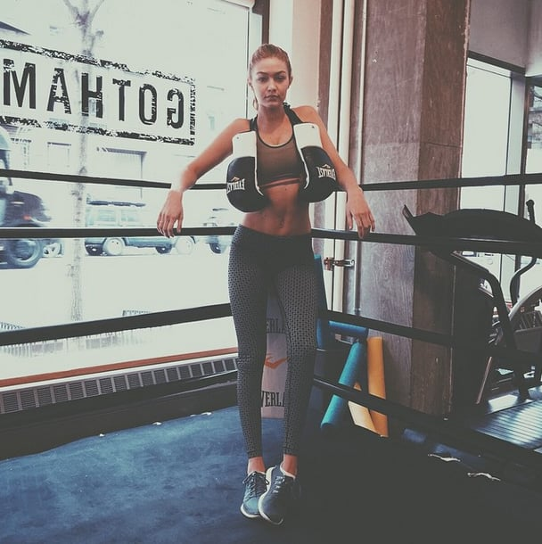 "Boxing is a big part of model Gigi Hadid's diet and fitness routine, and she makes fighting ""like a girl"" look fierce!"