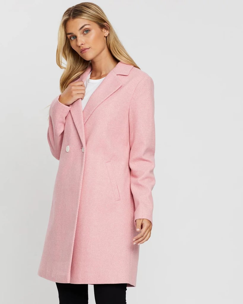 Dorothy Perkins Twill Double-Breasted Coat
