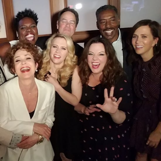 New and Old Ghostbusters Casts Together