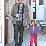 Seraphina joined Ben Affleck on a morning coffee run.