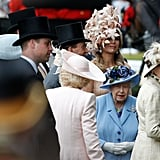 Queen Maxima of the Netherlands, Queen Elizabeth II and Princess Anne