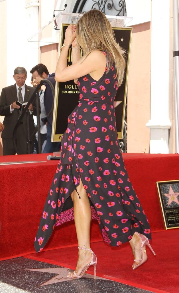 Jennifer Aniston Proenza Schouler Printed Dress Popsugar