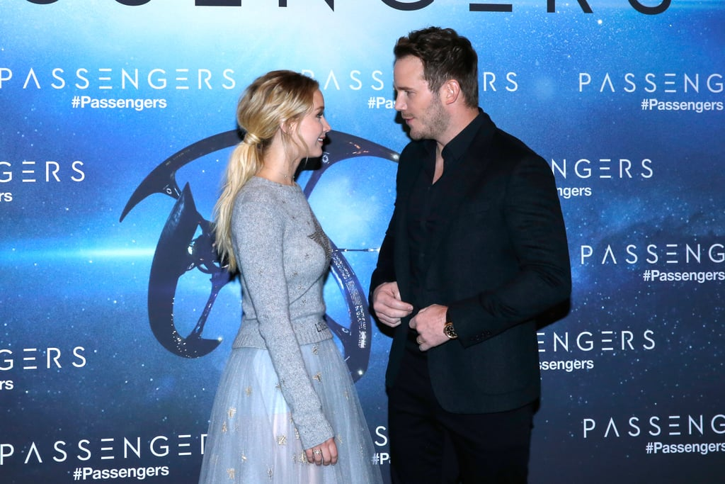 When Jennifer Lawrence isn't worrying about her vagina turning into a wet sponge, she's busy being one of Hollywood's most in-demand and down-to-earth actresses. Her lovable personality was on full display on Tuesday when she hit the red carpet with her equally endearing Passengers costar Chris Pratt at an event in Paris for their upcoming sci-fi romance. The pair, who have gotten along famously ever since filming began, couldn't help but giggle as soon as they laid eyes on each other while posing for photos at the Hotel George V. Were they joking about Chris's lung fetish? Or maybe why he and wife Anna Faris make Jennifer feel so miserable all the time? Either way, we're incredibly jealous of their friendship.      Related:                                                                5 Men Jennifer Lawrence Graciously Allowed Into Her Heart                                                                   Here's the Ridiculously Cute Thing About Chris Pratt You Probably Never Noticed