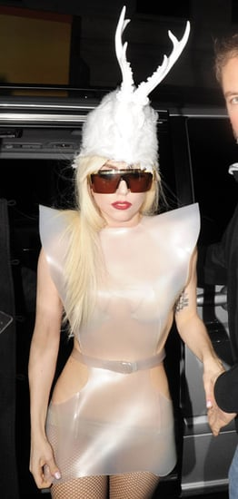Lady Gaga Wears Deer Antlers