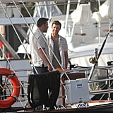 Ben Affleck and Justin Timberlake filmed on a boat.