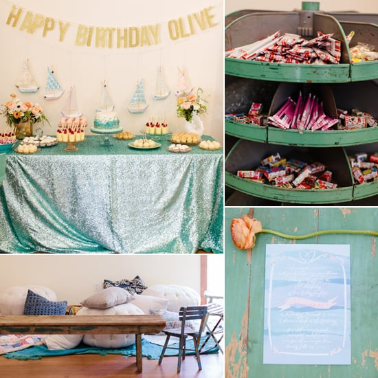 Under The Sea First Birthday Party Popsugar Moms
