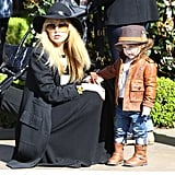 Rachel Zoe and her son Skyler went on a shopping excursion together on Saturday in LA.