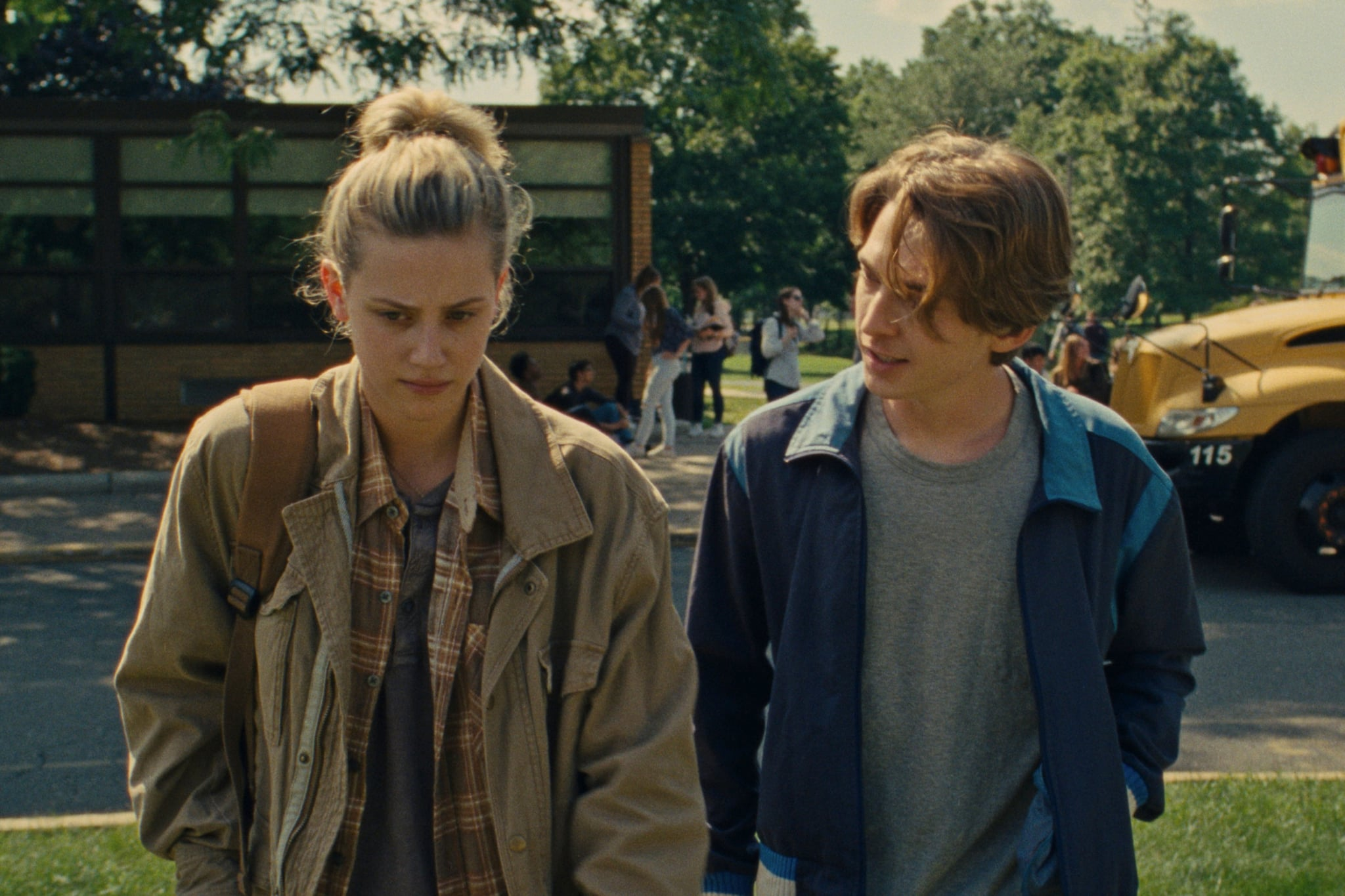 CHEMICAL HEARTS, from left: Lili Reinhart, Austin Abrams, 2020.  Amazon / Courtesy Everett Collection