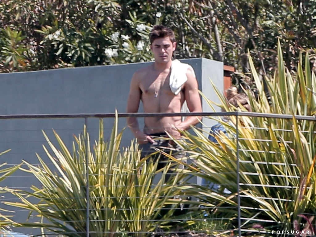 Zac Efron Shirtless on We Are Your Friends Set | Photos