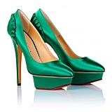 Not for the modest, these bold emerald green pumps will punch up the cool quotient on any LBD ensemble. Charlotte Olympia Paloma Platform ($629, originally $898)