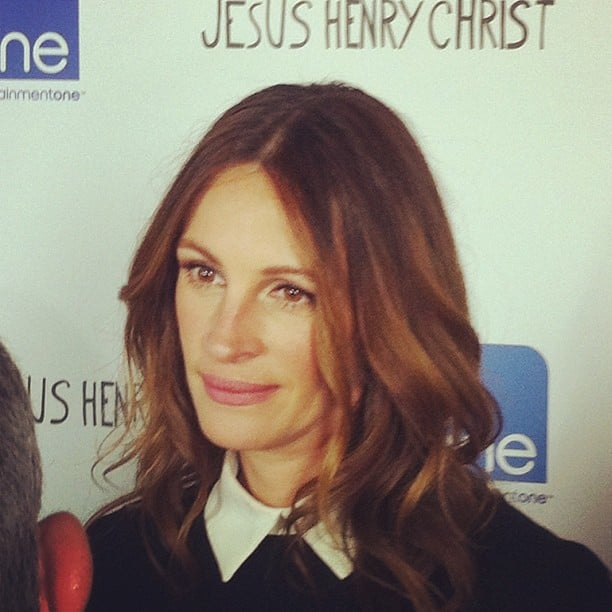 Julia Roberts came out for the premiere of Jesus Henry Christ, which she produced. She and Michael Sheen had some laughs on the carpet together.