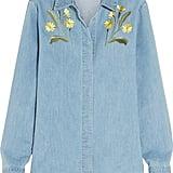 Stella McCartney Embroidered Stretch Denim Shirt ($695)