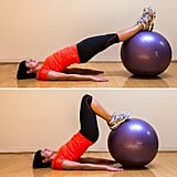 Hamstring Curl on Exercise Ball