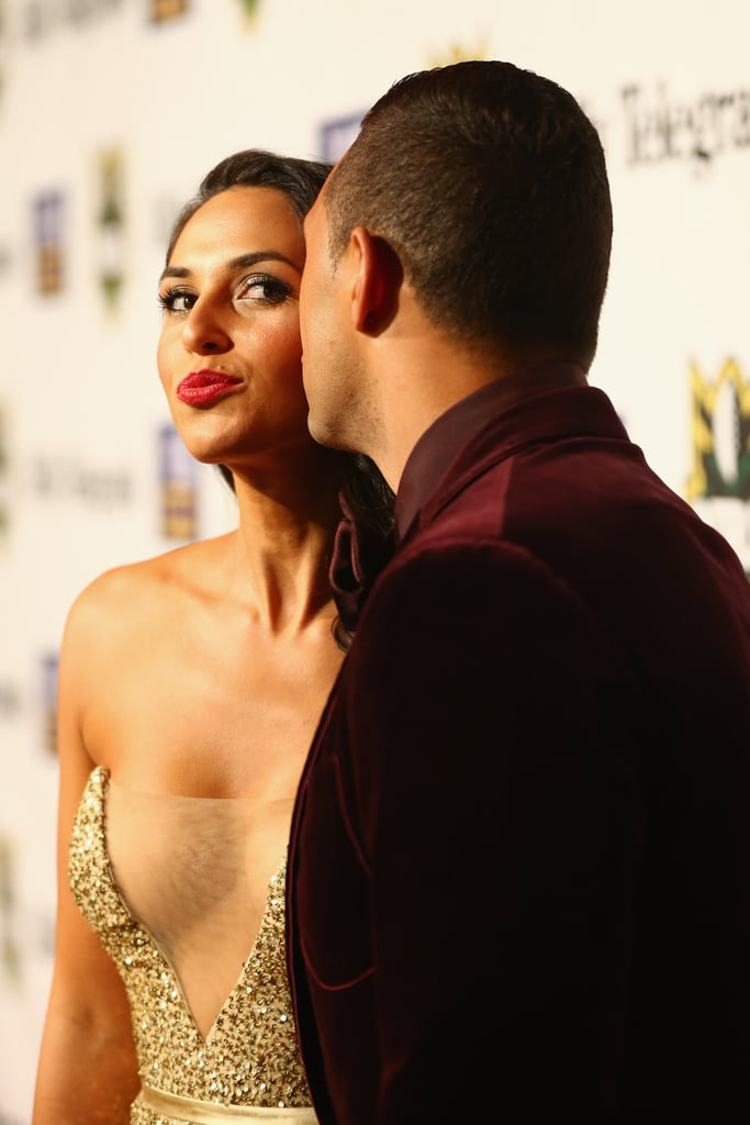 Zoe and Benji pucker up at the 2012 Dally M Awards in Sydney.
