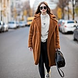 Throw On a Teddy Coat and Your Favorite Sneakers