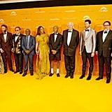 Pictured: Keegan Michael-Key, Florence Kasumba, Seth Rogen, Elton John, Lebo M., Beyoncé, Pharrell Williams, Tim Rice, Billy Eichner, Jon Favreau, and Hans Zimmer at The Lion King premiere in London.