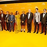Pictured: Keegan Michael-Key, Florence Kasumba, Seth Rogen, Elton John, Lebo M., Beyoncé, Pharrell Williams, Tim Rice, Billy Eichner, Jon Favreau, and Hans Zimmer at The Lion King premiere in London.