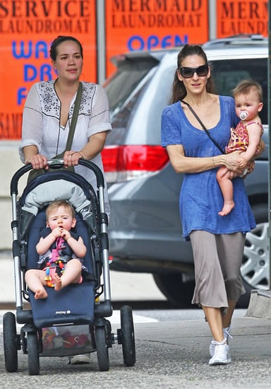 Sarah Jessica Parker out with her twins
