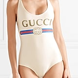 Hailey's Gucci One-Piece Swimsuit