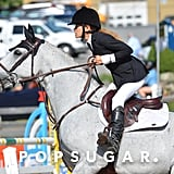 Mary-Kate Olsen Riding a Horse at American Gold Cup 2016