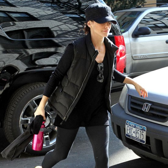 Pictures of Sandra Bullock Leaving Gym in NYC