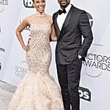 Sterling K. Brown and Ryan Michelle Bathe at 2019 SAG Awards