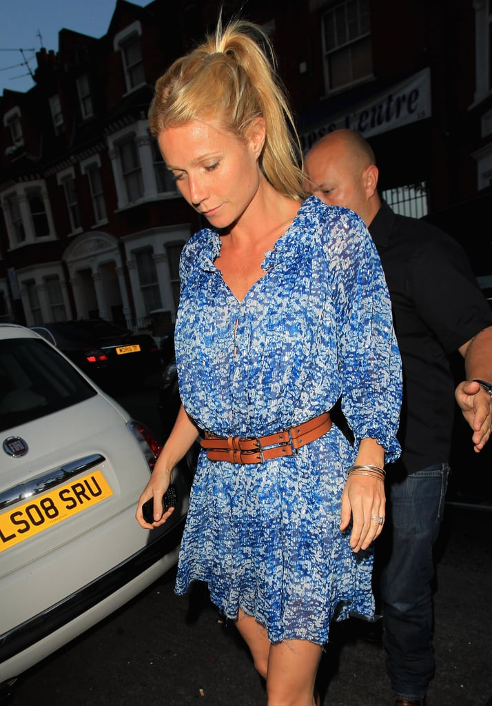 Gwyneth Paltrow stepped out in London to support Beyoncé Knowles.