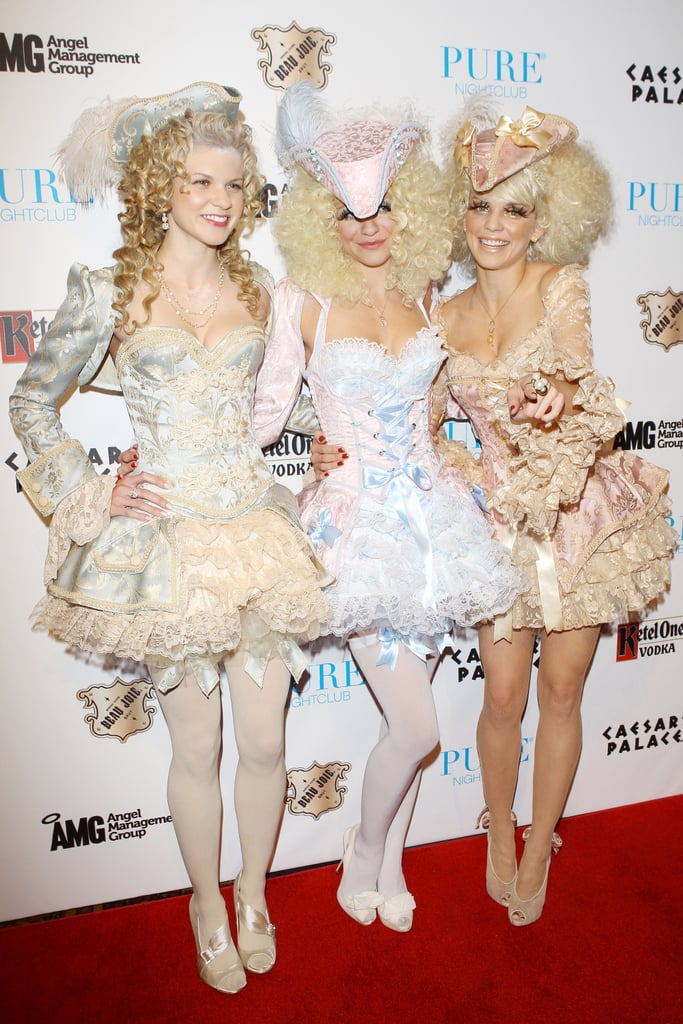 Angel, Rachel, and AnnaLynne McCord channeled Marie Antoinette at a 2011 party in Vegas.