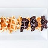 Chocolate-Dipped Doughnut Waffles
