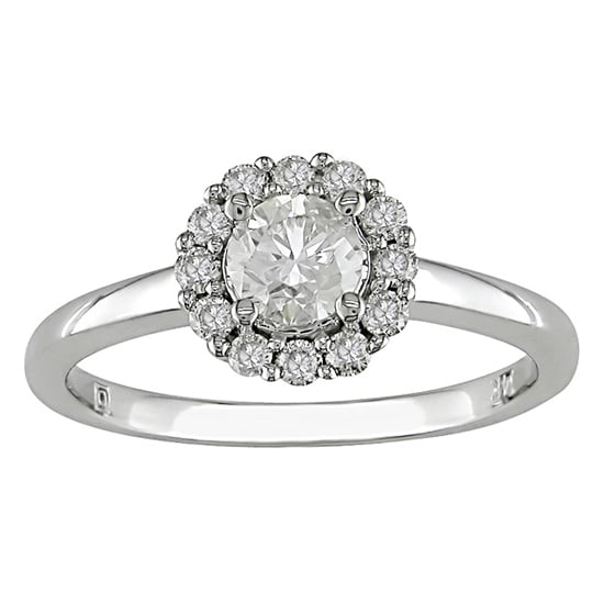 14 carat white gold diamond ring, $3,275, Ice Online