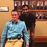 Aziz Ansari (Tom) Stopped by Even Though He Wasn't Filming . . .