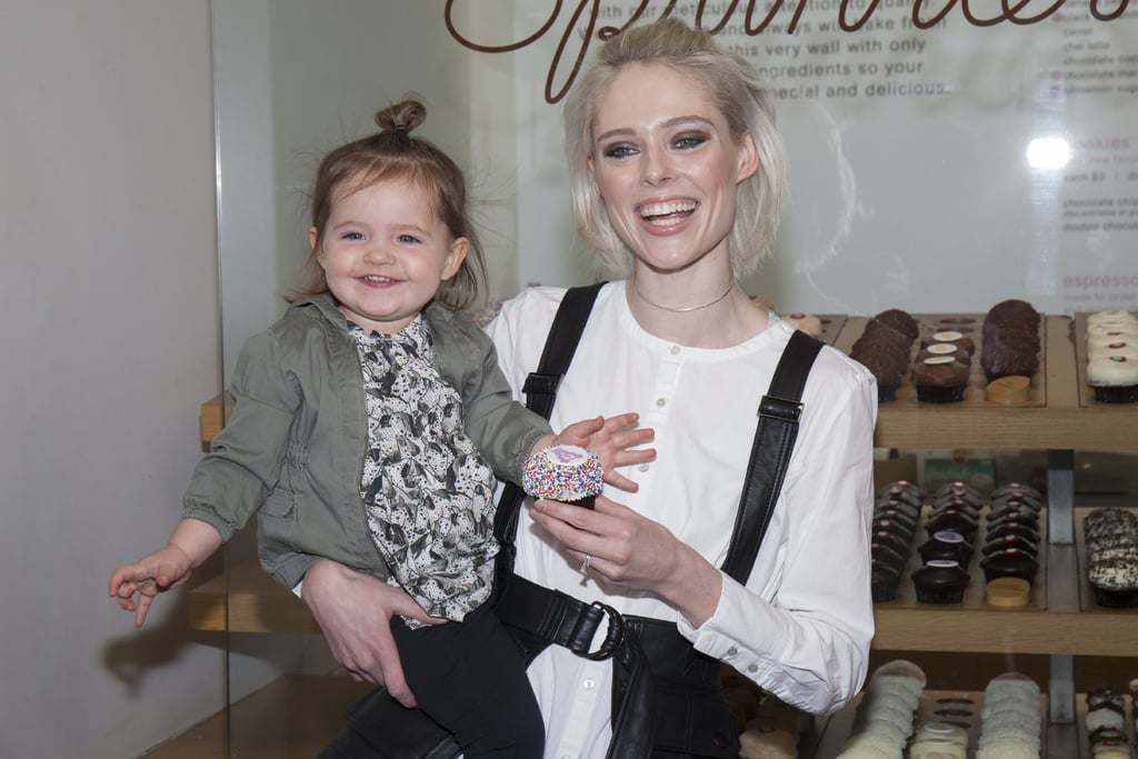It looks like Ioni James Conran, Coco Rocha's 1-year-old daughter, takes after her supermodel mom in the smile department. The adorable duo showed off their matching grins while attending a Sprinkles Cupcakes-sponsored event celebrating Carebears and National Hug Day in NYC on Saturday. Ioni, whom Coco welcomed to the world in March 2015 with husband James Conran, posed for a whole bunch of cute pictures in her art & eden outfit while chowing down on a rainbow-sprinkled cupcake and meeting a giant pink Carebear. Maybe next time her mom can arrange a playdate with little Luna?      Related:                                                                A Coco Rocha-Inspired Guide For Posing on Instagram                                                                   Destry Spielberg and 34 Other Celebrity Kids Making a Name For Themselves in Fashion