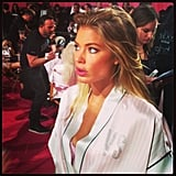Doutzen Kroes was looking radiant in the makeup chair! Source: Instagram user ellecanada
