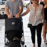 Hilary Duff and Mike Comrie took Luca out in NYC.