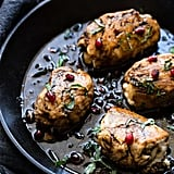 Baked Balsamic Goat Cheese Stuffed Pomegranate Chicken