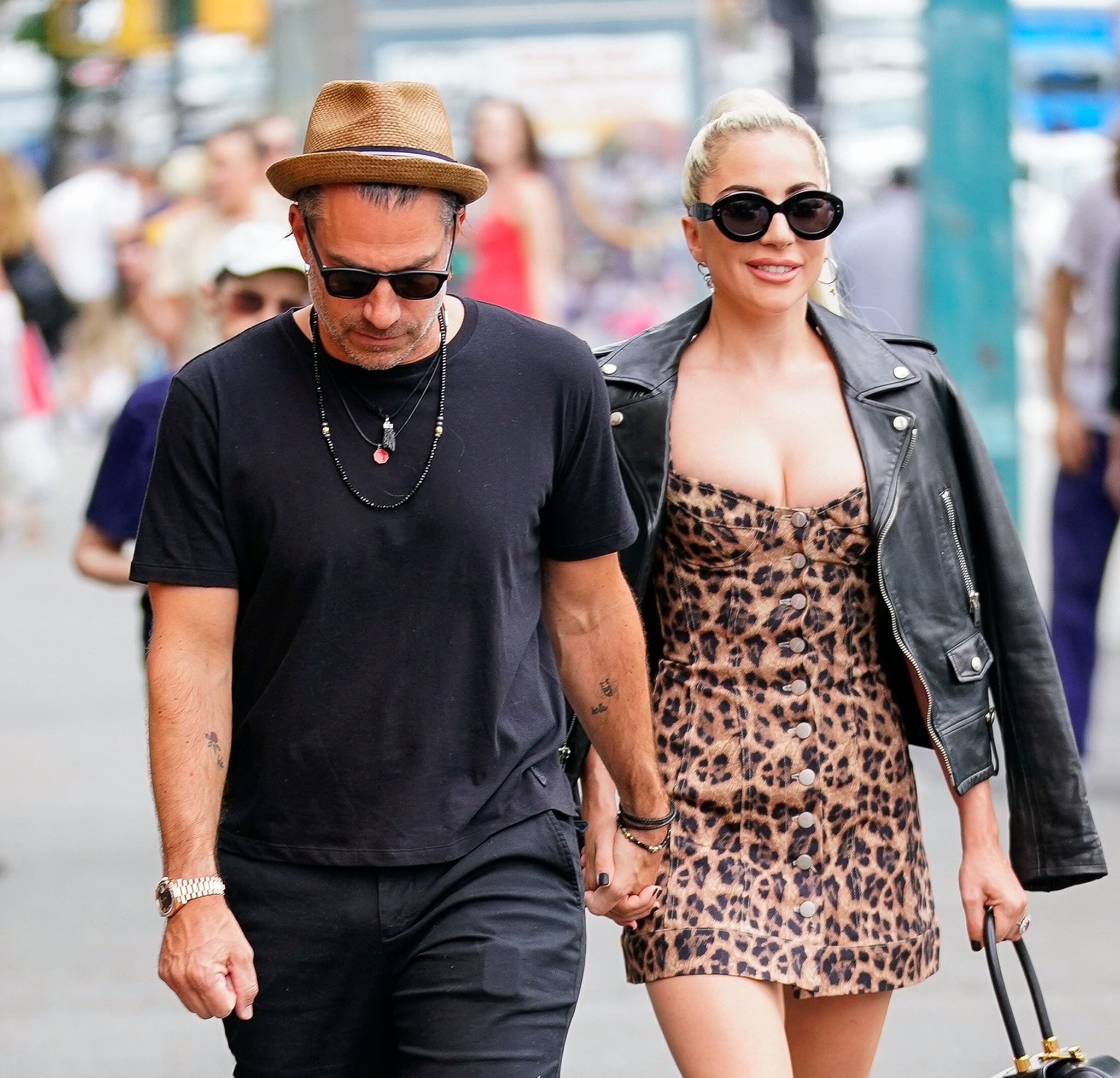 NEW YORK, NY - JUNE 28:  Lady Gaga and Christian Carino walk to her studio on June 28, 2018 in New York City.  (Photo by Gotham/GC Images)