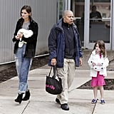 Suri Cruise and Katie Holmes exited Pittsburgh's Children's Museum together.