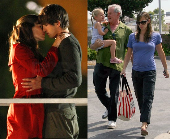 Photos of Jennifer Garner Making Out With Ashton Kutcher on the LA Set of Valentine's Day