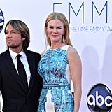 Keith Urban and Nicole Kidman posed together.