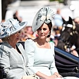 Camilla, Duchess of Cornwall, and Catherine, Duchess of Cambridge
