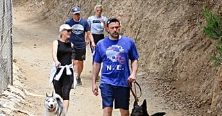 Meet the Shookuses! Ben Affleck Goes Dog Walking With Girlfriend Lindsay and Her Parents