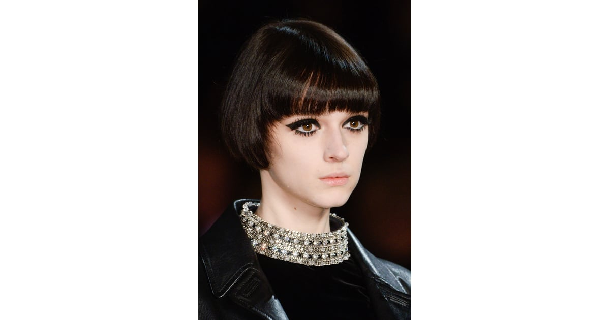 fashion style hair laurent fall 2014 fashion week hair and 5709 | Saint Laurent Fall 2014