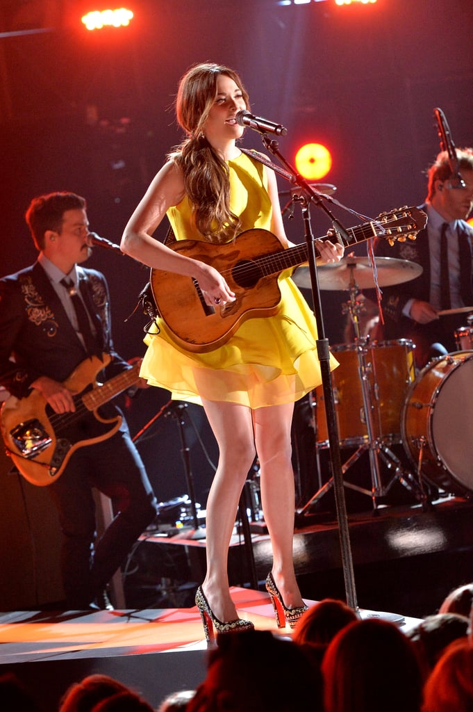 Kacey Musgraves performed on stage.