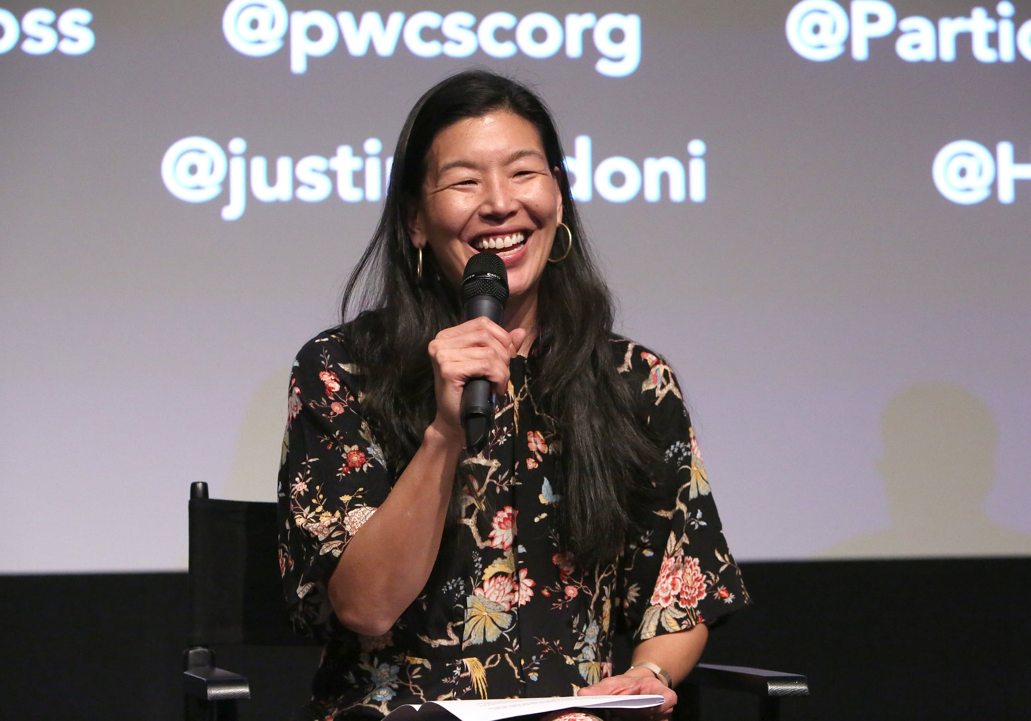 WEST HOLLYWOOD, CALIFORNIA - DECEMBER 09: Ai-jen Poo speaks on caregiving and masculinity at