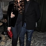 Roland Mouret went for a smart casual look in a blazer and jeans whilst Camilla Al Fayed wore a velvet jacket.