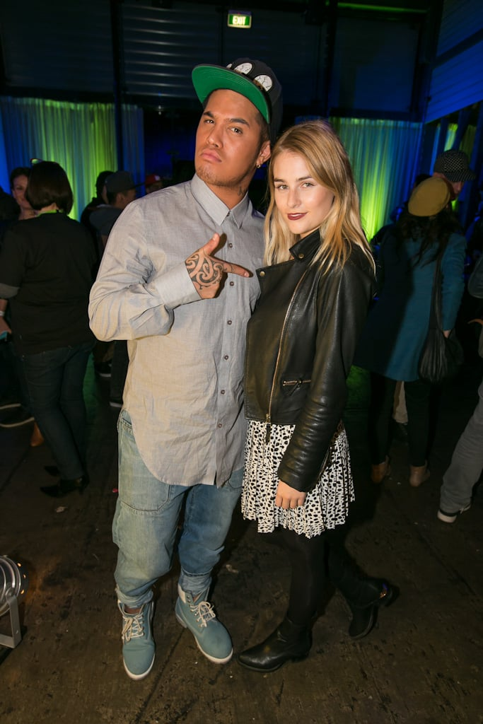 Stan Walker and Carissa Walford linked up at the Spotify launch party in Sydney on June 14.