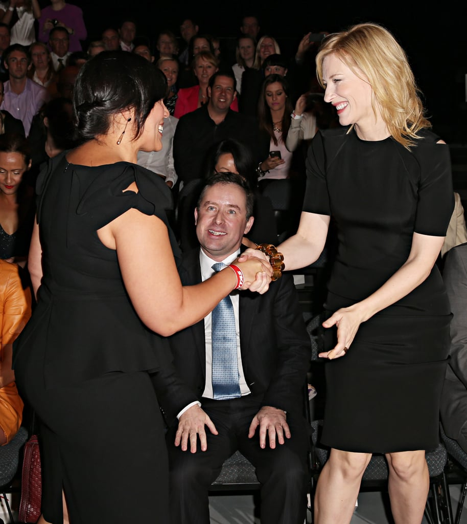 Kate Cebrano and Cate Blanchett at the show.