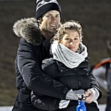 Gisele Bündchen and Tom Brady Cozy Up Against the Cold at Their Son's Hockey Game